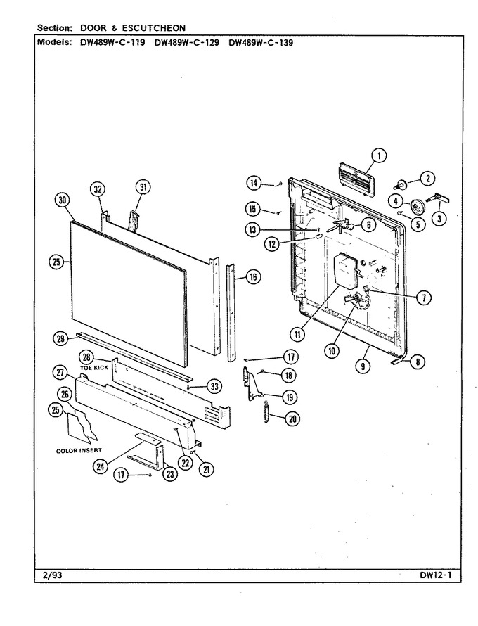 Diagram for DW489WC129