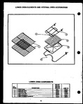 Diagram for 04 - Lw Oven Elements & Internal Oven Acs