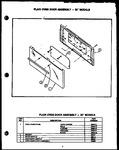 Diagram for 07 - Plain Oven Door Assy - 30`` Models