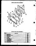 Diagram for 10 - Upper Oven Door Assy