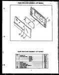Diagram for 05 - Plain Oven Door Assy--30`` Models