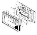 Diagram for 05 - Oven Door, Glass, Ehn380/389