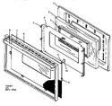 Diagram for 06 - Oven Door Assy