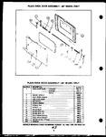 Diagram for 06 - Plain Oven Door Assy-20`` Model Only