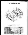 Diagram for 01 - All Black Glass Oven Door