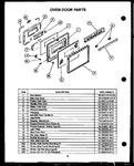 Diagram for 08 - Oven Door Parts