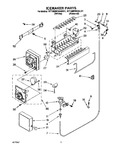 Diagram for 08 - Icemaker, Literature/optional