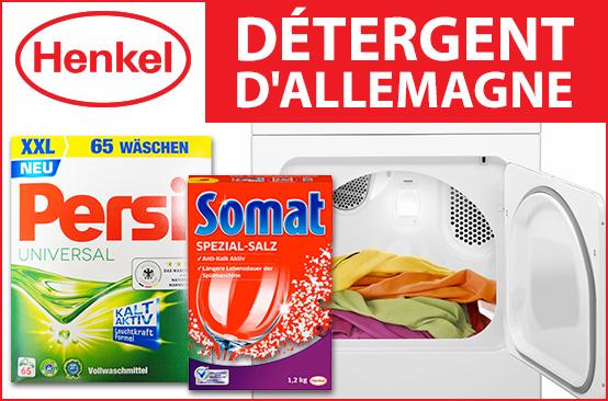 Détergents Henkel (persil, Mir, Minidou, Super Croix, Perwoll, Vernel, Somat)